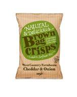 Brown Bag Crisps - West Country Farmhouse Cheddar & Onion Crisps - 10 x 150g