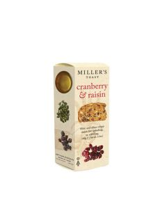 Artisan Biscuits - Miller's Cranberry & Raisin Toasts - 6 x 100g