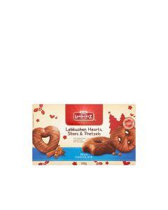 Lambertz - Milk Chocolate Lebkuchen Hearts, Stars & Pretzels - 14 x 500g