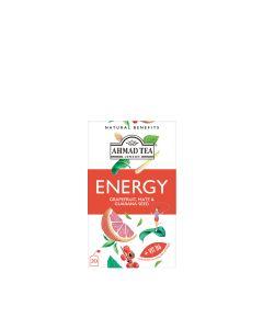 Ahmad Tea - Natural Benefits Tea - Energy: Grapefruit, Mate & Guarana Seed Fruit & Herbal Infusion with Vitamin B6 - 6 x 30g