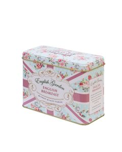 Ahmad Tea - English Garden Caddy (English Breakfast 40 teabags)  - 12 x 80g