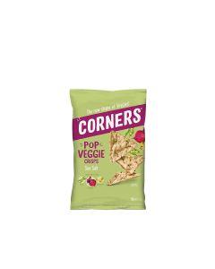 Corners - Pop Veggie Crisps - Chickpea, Beetroot & Pea - Sea Salt - 8 x 85g