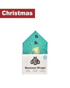Black Bee Honey - Beeswax Wraps - Lunch Pack (Blue) - 10 x 0.04kg