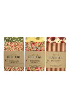 Bumble Wrap  - Beeswax Sandwich wraps: Strawberry, Bee, Flamingo - 30 x (3 Designs x 10 Packs)