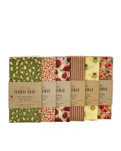 Bumble Wrap  - Large 50cm Bread Wrap - variety of designs. 12  x single wraps