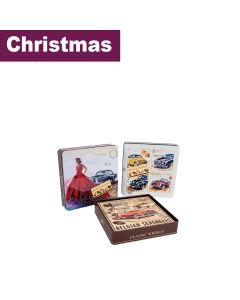 Classic Wheels - Mixed Case of 2 Design Tins of Chocolate Seashells - 6 x 250g