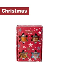 Beanie Coffee - Gift set of Christmas Coffee - Mulled Wine, Mince Pie, Gingerbread & Christmas Pudidng - 6 x 200g
