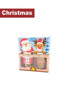 Infinity Brands - Poshpin - Santa & Reindeer Marshmallow & Hot Chocolate Gift Set with Reusable Plastic Cups with Lids - 6 x 180g