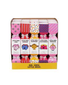 Little Miss & Mr Men - Mixed Case: Vegan Cola Bottles, Strawberries & Fruit Jellies in Little Miss Crackers - 20 x 80g