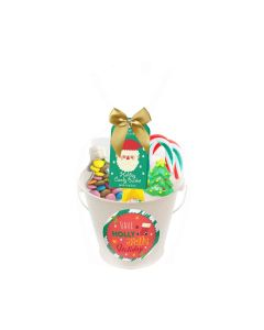 Poshpin - White Bucket Filled with Lollipops, Candy Cane, Chews & Flying Saucers - 6 x 162g