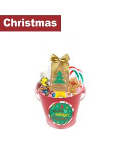 Infinity Brands - Poshpin - Red Bucket filled with Lollipops, Candy Cane, Chews & Marshmallows - 6 x 162g