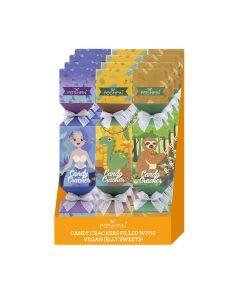 Poshpin - Mixed CDU of Christmas Cracker Shaped Cartons Filled with Vegan Fruit Jellies - 12 x 100g