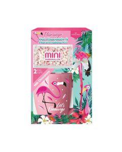 Poshpin - Flamingo Ceramic Mug, 120g Hot Chocolate & 30g Marshmallows - 6 x 150g