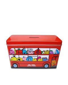 Little Miss & Mr Men - Money Box Tin Filled With Mini Cookies - 12 x 150g