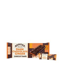 Border Biscuits - Dark Chocolate Ginger Bars - 12 x 40g