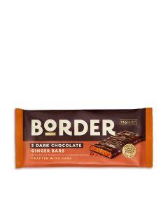 Border Biscuits - Dark Chocolate Ginger Bars - 14 x 40g