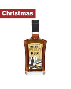 Britis Polo Run - British Polo Spiced Rum - 100% Organic and Double Spiced 40% Abv - 6 x 700ml