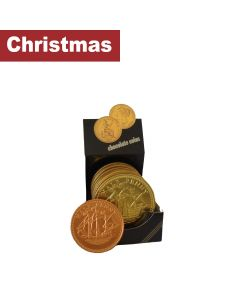 Bysel - Steenland - Giant 1/2d Milk Chocolate Coin - Display  Box - 48 x 90g