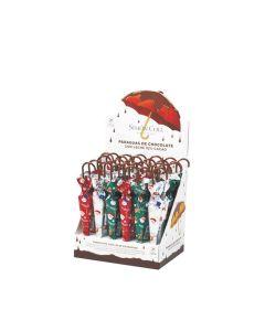 Simon Coll - Milk Chocolate Christmas Umbrellas - 30 x 35g