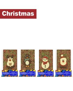 Cocoba - Mixed Case of Festive Handmade Belgian Chocolate Bars - 4 x 2 x 100g
