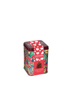 Cocoba - Heart gift Tin with Cocoa Dusted Salted Toffee Truffles - 6 x 200g