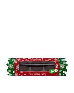 Cocoba - Vegan Christmas Hot Chocolate Bombe Cracker - 6 x 150g