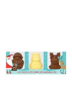 Cocoba - Set of 3 Character Hot Chocolate Bombes - 6 x 150g