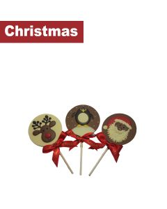 Chocolate Craft - Mixed Case of Festive Friends Chocolate Lollies - 10 x 30g
