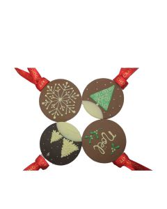 Chocolate Craft - Mixed Case of Noel Chocolate Tree Decorations - 15 x 30g