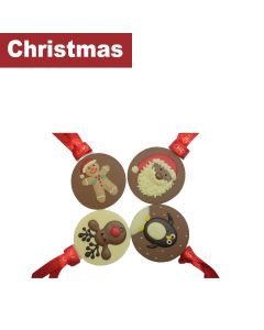 Chocolate Craft - Mixed Case of Festive Friends Tree Decorations - 15 x 30g