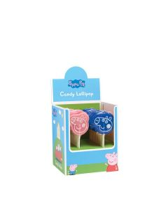 Natural Candy Shop - Mixed Tray of Peppa Pig & George Lollipops - 24 x 65g