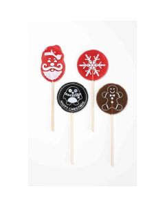 Natural Candy Shop - Assorted Christmas Shaped Lollipops - 24 x 65g