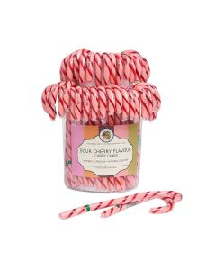 Natural Candy Shop - Sour Cherry Canes in Tub - 80 x 28g