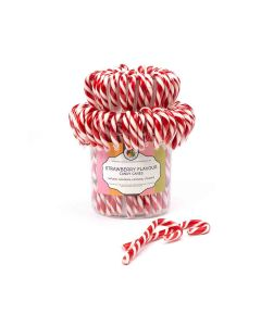 Natural Candy Shop - Natural Candy Canes - Strawberry - 80 x 28g