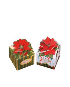 Churchill's Confectionery - Poinsettia Boxes with Vanilla Fudge and Fruit Jellies - 12 x 250g