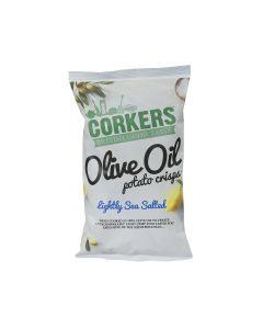 Corkers Crisps - Lightly Sea Salted Crisps - 8 x 130g