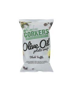 Corkers Crisps - Black Truffle Crisps - 8 x 130g