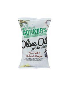 Corkers Crisps - Sea Salt & Balsamic Vinegar - 8 x 130g
