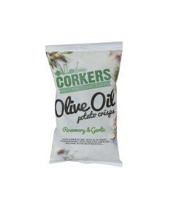 Corkers Crisps - Rosemary & Garlic Crisps - 8 x 130g