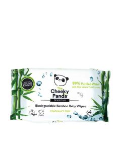 The Cheeky Panda - Biodegradable Bamboo 64 Baby Wipes  - 24 x 450g