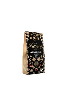 Divine Chocolate -  70% Dark Chocolate Hearts - 12 x 80g