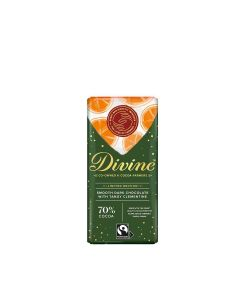 Divine Chocolate - 70% Dark Chocolate with Clementine Bar - 15 x 90g