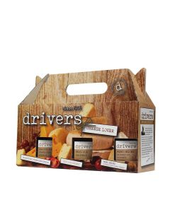 Drivers - Cheese Lovers Box (includes Mini Onions in Honey & Balsamic Vinegar  550g, Real Ale Chutney 350g , Farmhouse Pickle 350g) - 4 x 1250g