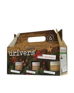 Drivers - Christmas Gift Box - Box Includes 1906 Pickled Onions, Christmas Pickle and Chunky Piccalilli - 4 x 1250g