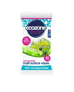Ecozone - Anti Bacterial Multi Surface Wipes - 8 x 240g