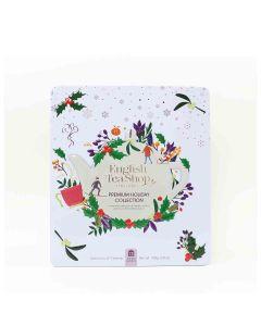 English Tea Shop - Premium Holiday Collection White Gift Tin (72 Tea Bag Sachets) - 6 x 108g