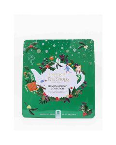 English Tea Shop - Premium Holiday Collection Green Gift Tin (72 Tea Bag Sachets) - 6 x 108g