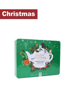 English Tea Shop - Premium Holiday Collection Holly - Green Gift Tin -36 Tea Bag Sachets - 6 x 54g