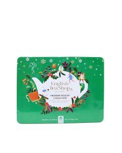 English Tea Shop - Premium Holiday Collection Green Gift Tin (36 Tea Bag Sachets) - 6 x 54g