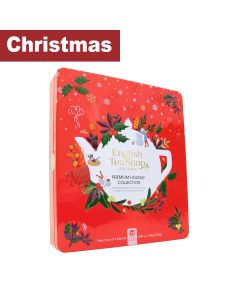 English Tea Shop - Premium Holiday Collection Red Gift Tin -72 Tea Bag Sachets - 6 x 108g